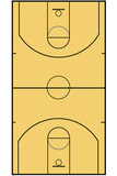 Basketball Court Layout Sports Pôsters