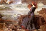 Miranda et la tempête Affiche par John William Waterhouse