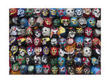 Mexican Wrestling Masks 2 (Store Display in the Mission, San Francisco, CA) Photographic Print by Henri Silberman