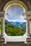 View from Neuschwanstein Castle in the Bavarian Alps of Germany. Photographic Print by  SeanPavonePhoto