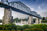 Chattanooga, Tennessee, USA at Coolidge Park and Walnut Street Pedestrian Bridge. Photographic Print by  SeanPavonePhoto