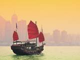 Sailing in Victoria Harbor in Hong Kong. Photographic Print by  SeanPavonePhoto