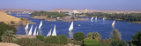 Feluccas on River Nile at Aswan Photographic Print by Brian Lawrence