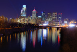 Skyline of Downtown Philadelphia, Pennsylvania. Photographic Print by  SeanPavonePhoto