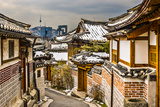 Seoul, South Korea at the Bukchon Hanok Historic District. Stretched Canvas Print by  SeanPavonePhoto