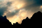 Dolomites Silhouette Reproduction photographique par Olaf Broders