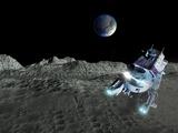 Lunar Exploration, Artwork Photographic Print by Victor Habbick