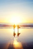 Sunsoaked Surf Silhouette Fotografie-Druck