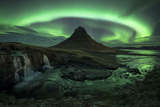 Aurora over Kirkjufell, Iceland Photographic Print by David Clapp