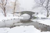Usa, New York, New York City, Central Park, Gapstow Bridge in Winter Photographic Print by Tetra Images