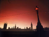 Houses of Parliament at Dusk, London, England Fotografisk tryk af Terry Why
