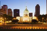 Usa, Missouri, St Louis, Old Courthouse at Night Fotografisk trykk av Henryk Sadura