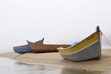 Boats on Beach, Moulay Bousselham, Kenitra Province, Morocco Reproduction photographique par Jean-Christophe Riou