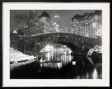 New York Pond in Winter Art