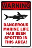 Dangerous Marine Tin Sign
