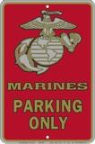 Marine Parking Only Metalen bord