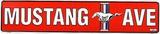 Mustang Ave (Red) Blechschild
