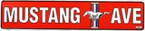 Mustang Ave (Red) Tin Sign