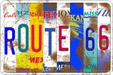 Route 66 States Blikkskilt