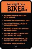 Biker Rules Blechschild