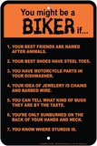 Biker Rules Tin Sign