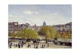 The Quai Du Louvre in Paris by Claude Monet Giclée-Druck