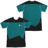 Star Trek - Science Uniform Costume Tee (Front/Back Print) Sublimated