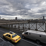 Taxi on Brooklyn Bridge Photographic Print by  Maremagnum