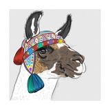 Vector Sketch of Alpaca Posters af kavalenkava volha