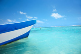 Boat in Blue Water Photographic Print by Adrianna Williams