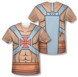 Masters of the Universe - He-Man Costume Tee (Front/Back Print) Sublimated