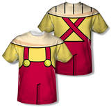 Youth: Family Guy - Stewie Griffin Costume Tee (Front/Back Print) Shirts