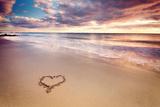Heart on the Beach Fotoprint av Elusive Photography