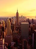 New York - Magic Hour at Top of Rock Fotografie-Druck von Matt Pasant