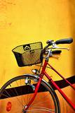 Red Bike and Yellow Wall Photographic Print by See me on Flickr account-metal543