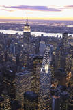 Chrysler Building and Empire State Building Reproduction photographique par Berthold Trenkel