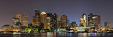 Urban City Night Scene Panorama from Boston Massachusetts. Reproduction photographique par Songquan Deng
