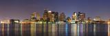Boston Downtown Skyline Panorama with Skyscrapers over Water with Reflections at Dusk Illuminated W Reproduction photographique par Songquan Deng