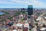 Boston Skyline Aerial View Panorama with Skyscrapers and Charles River. Reproduction photographique par Songquan Deng