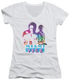 Juniors: Miami Vice - Crockett And Tubbs V-Neck Womens V-Necks