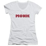 Juniors: Monk - Logo V-Neck Womens V-Necks