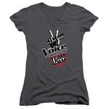 Juniors: The Voice - Team Adam V-Neck Womens V-Necks