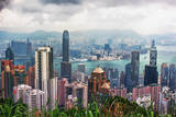 Hong Kong from Victoria Peak Photographic Print by L. Toshio Kishiyama