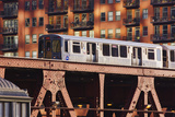 Chicago Train at Riverbend Photographic Print by Jeremy Woodhouse
