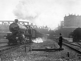 Express Steam Train Reproduction photographique par Hulton Collection