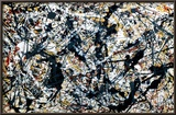Silver On Black Posters by Jackson Pollock