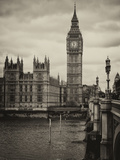 Palace of Westminster and Big Ben - Westminster Bridge - London - England - United Kingdom Fotografie-Druck von Philippe Hugonnard