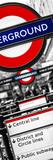 The Underground - Subway Station Sign - London - UK - England - United Kingdom - Door Poster Fotografie-Druck von Philippe Hugonnard