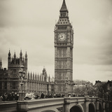 View of Big Ben from across the Westminster Bridge - London - UK - England - United Kingdom Fotografie-Druck von Philippe Hugonnard