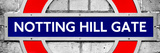 Notting Hill Gate Sign - Subway Station Sign - London - UK - England - United Kingdom - Europe Fotografie-Druck von Philippe Hugonnard